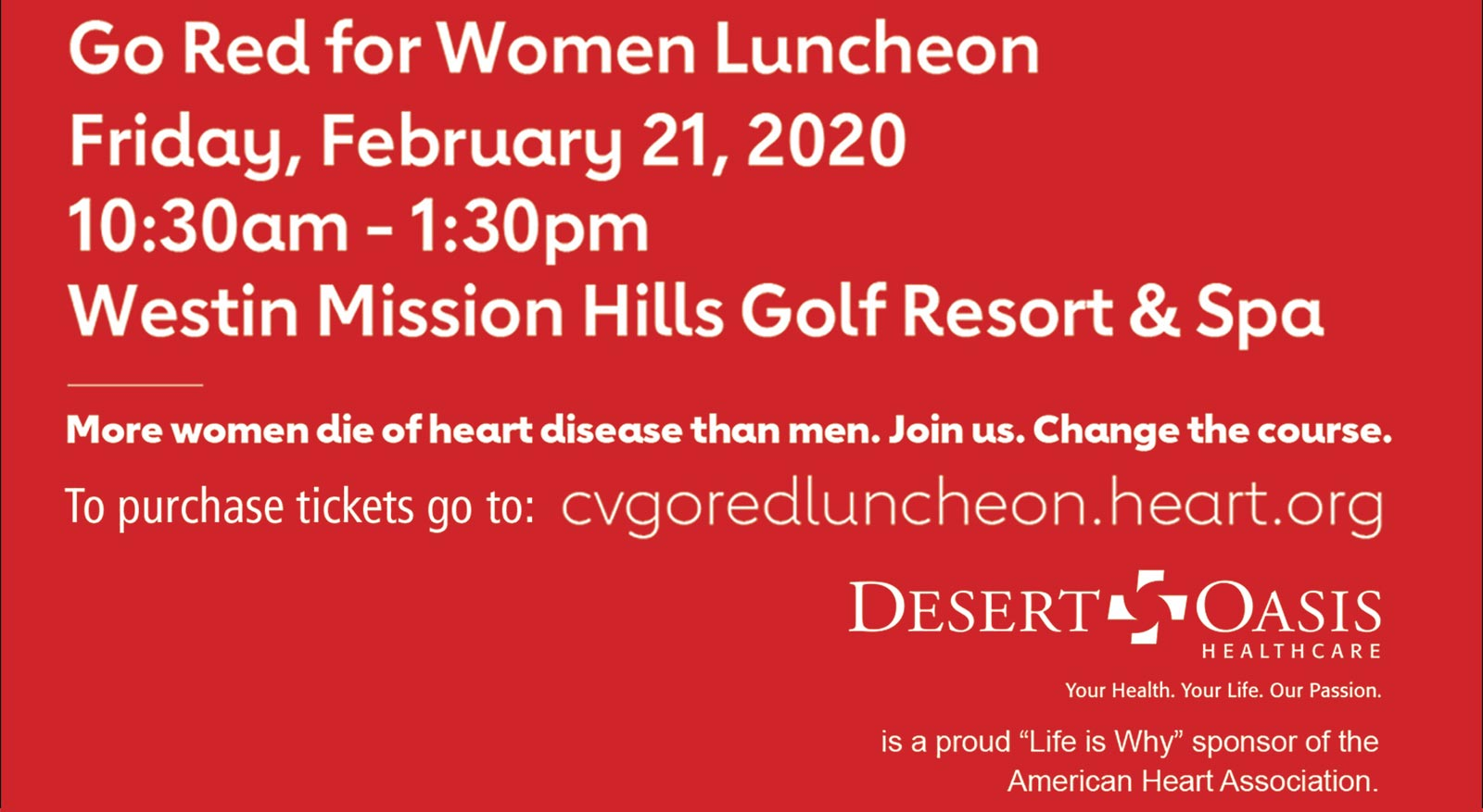 Newsletter | January 2020 | Go Red for Women Luncheon
